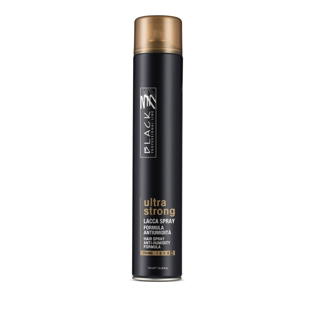 Black Ultra Strong Hair Spray lak 750 ml - lak na vlasy