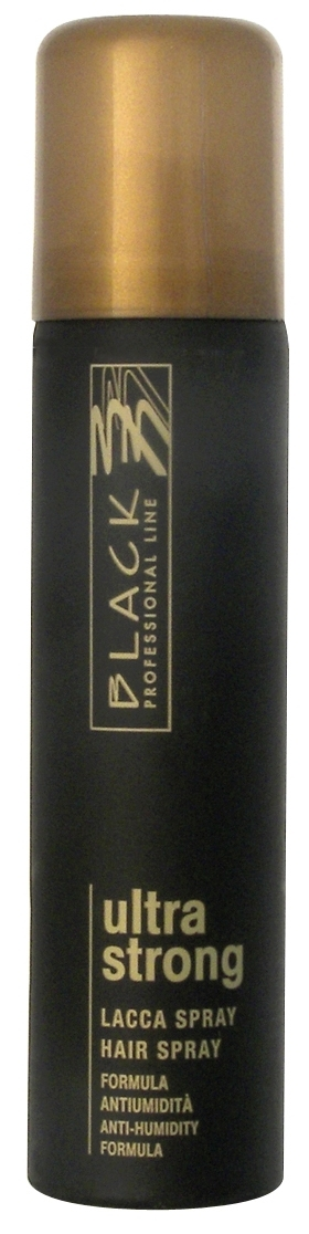 Black Ultra Strong Hair Spray 75ml - lak na vlasy