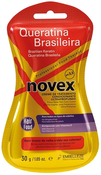 Novex Brazilian Keratin Deep Treatment Conditioner 30 g - kondicionér na vlasy s keratinem