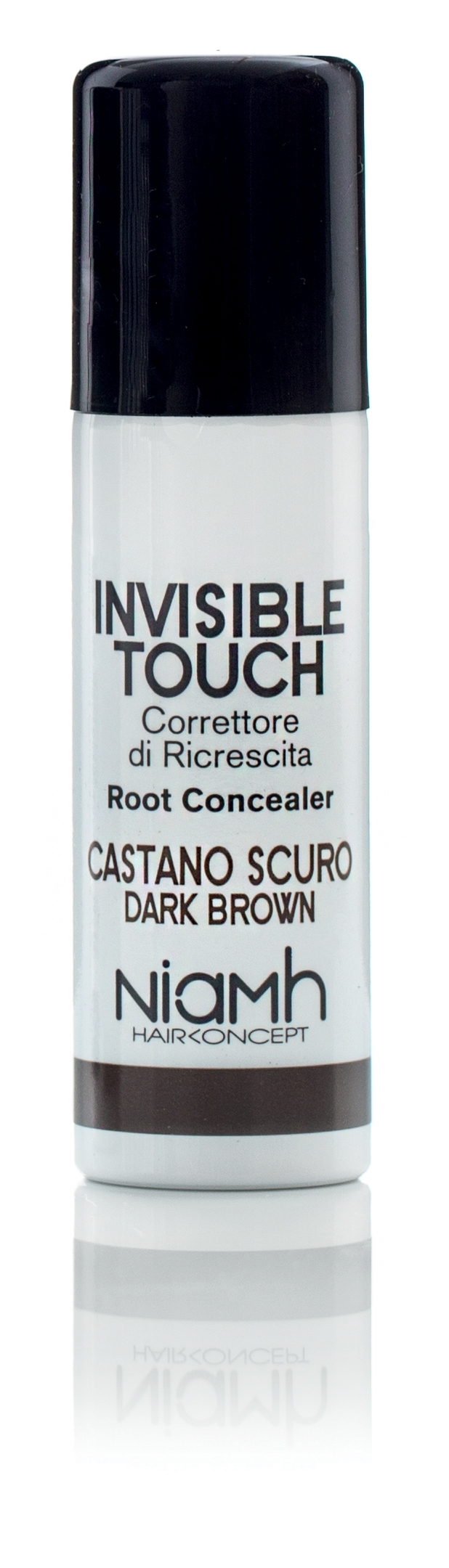 Niamh Hairkoncept Invisible Touch Root Concealer Dark Brown 75 ml - korektor tmavě hnědý