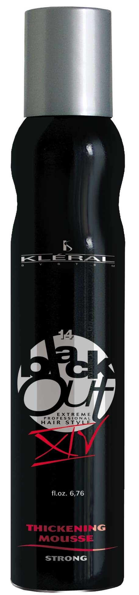 Kléral System Black Out Thickening Mousse Strong XIV 200 ml - pěnové tužidlo na vlasy