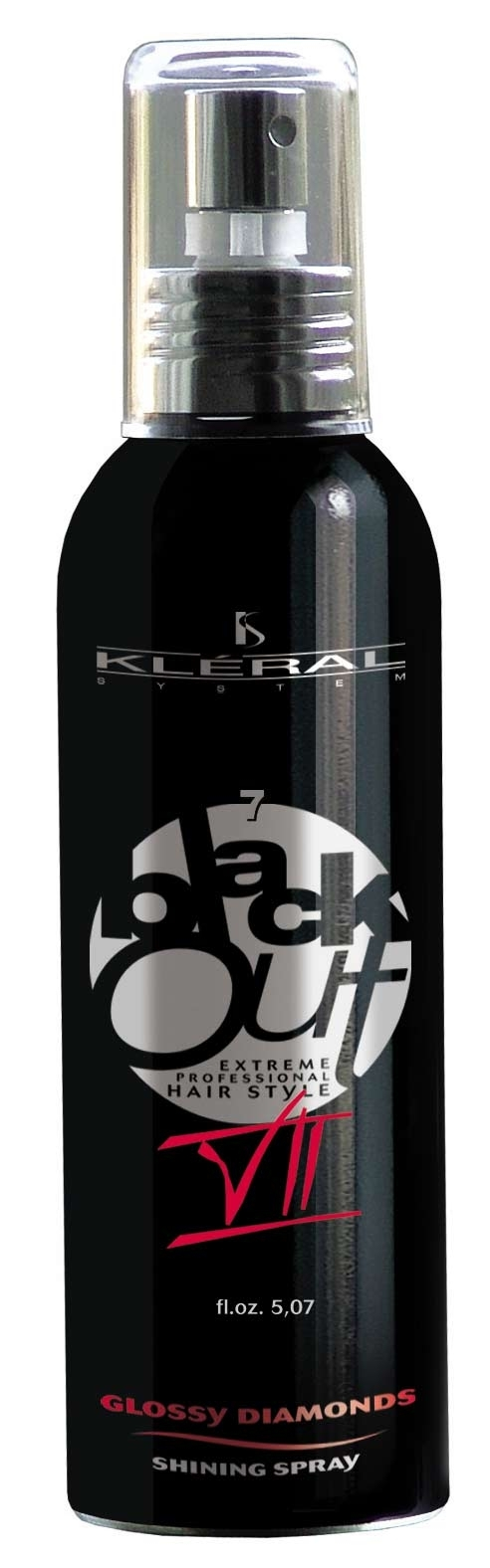 Kléral System Black Out Glossy Diamonds VII150 ml - lesk na vlasy