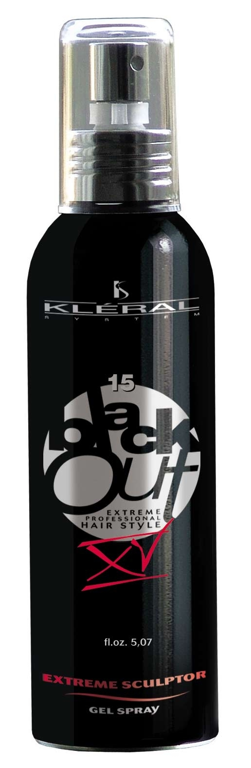 Kléral System Black Out Extreme Sculptor Gel XV 150 ml - gel na vlasy