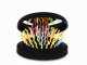 Rainbow Brush Black Pocket - rozčesávací kartáč