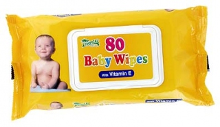 Baby Wipes 80 Vitamin E