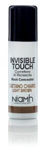 Niamh Hairkoncept Invisible Touch Root Concealer Light Brown 75 ml - korektor světle hnědý