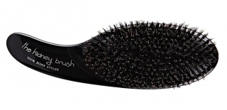 Olivia Garden The Kidney Brush 100 % Boar Black Edition - kartáč na vlasy